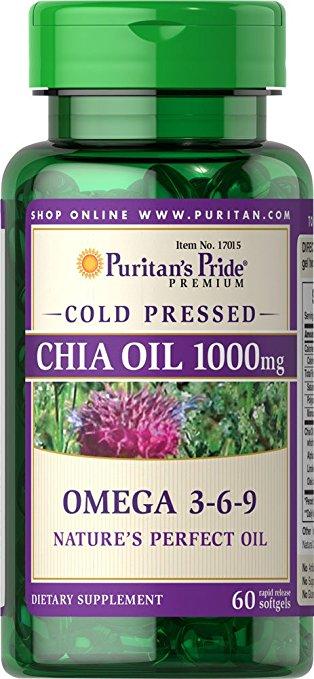 Puritan's Pride Omega 3-6-9 Chia Seed Oil 1000 mg