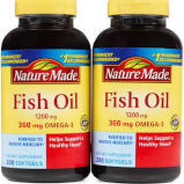 Dầu cá Nature Made Fish oil 1200mg Omega 3 360mg hộp 200 viên
