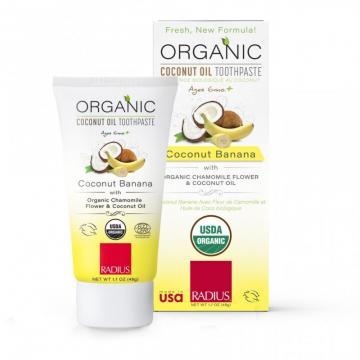 Kem đánh răng hữu cơ Radius dầu dừa cho bé (1.7oz - 48g)