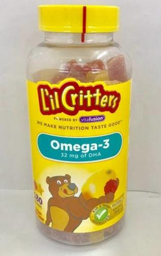 Kẹo gấu dẻo L'il Critters Omega 3 DHA Gummy Fish Lọ 180 viên