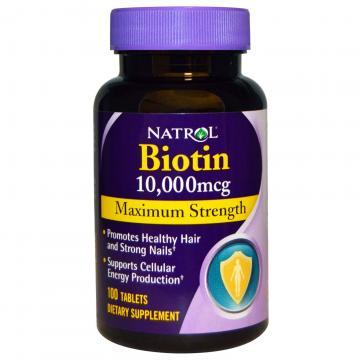 Natrol Biotin 10000 mcg Hỗ Trợ Mọc Tóc, Giúp Móng Khỏe